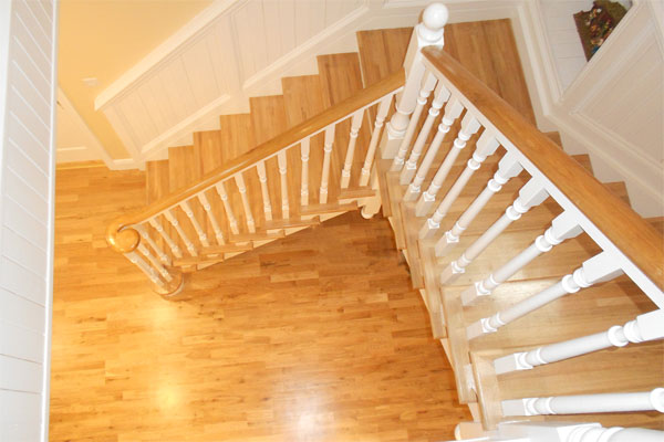 A beautifully crafted half turn staircase installed as part of a home build in Kilkenny by Morrissey Construction
