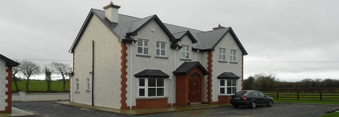 red brick and block constructed home in west kilkenny, Ireland