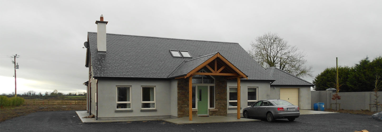rendered block built dormer bungalow in kilkenny, Ireland